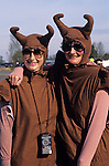 Women dressed as slugs for a fun run
