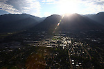 1309-22 0014<br /> <br /> 1309-22 BYU Campus Aerials<br /> <br /> West looking East, Provo, Sunrise<br /> <br /> September 6, 2013<br /> <br /> Photo by Jaren Wilkey/BYU<br /> <br /> &copy; BYU PHOTO 2013<br /> All Rights Reserved<br /> photo@byu.edu  (801)422-7322