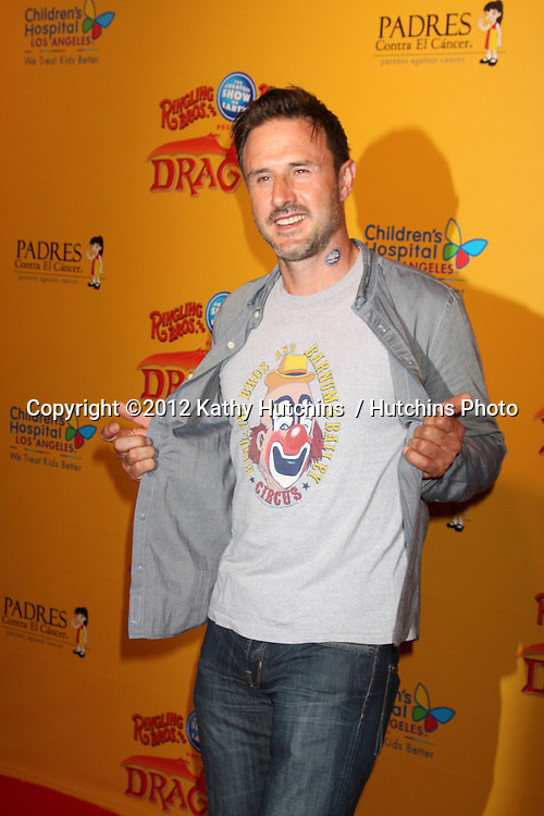 LOS ANGELES - JUL 12:  David Arquette arrives at 'Dragons' presented by Ringling Bros. & Barnum & Bailey Circus at Staples Center on July 12, 2012 in Los Angeles, CA