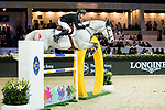 Jérôme Guery of Belgium riding Garfield de Fiji des Templiers competes in the Hong Kong Jockey Club Trophy during the Longines Masters of Hong Kong at the Asia World Expo on 09 February 2018, in Hong Kong, Hong Kong. Photo by Ian Walton / Power Sport Images