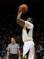 Kahlil Johnson of California shoots the ball during the game against CSUB at Haas Pavilion in Berkeley, California on November 11th, 2012.  California defeated CSUB, 78-65.