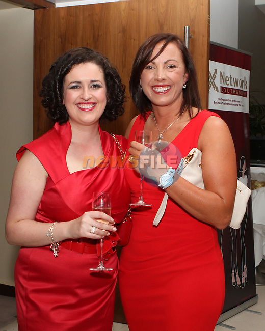 Olwen Dawe, IBI with Sarah Flood from Snap Mayo at the Network Ireland National Conference and Businessswomen of the Year Awards 2012 - Friday 28th September in Drogheda, Co. Louth..Photo NEWSFILE/Jenny Matthews.