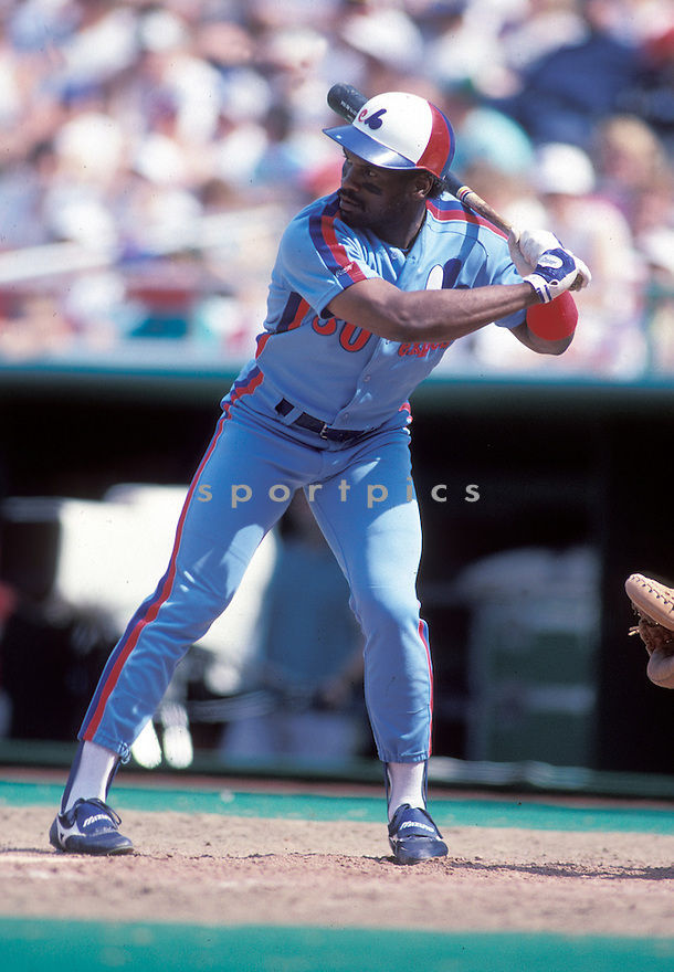 Montreal Expos Tim Raines(34) in action during a game from his 1983 season.  Tim Raines played for 23 years with 6 different teams and  was a 7-time All-Star.David Durochik/SportPics
