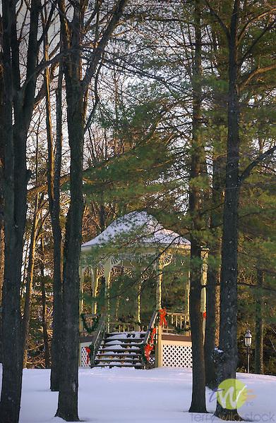 gazebo in Winter, Eagles Mere, PA