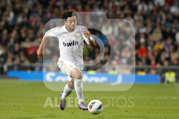 Real Madrid's Marcelo during la Liga match on march 18th 2012...Photo: Alex Cid-Fuentes / ALFAQUI