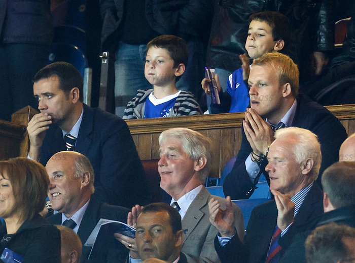 Steven Naismith watches from the stand