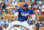 Dodgers' Clayton Kershaw pitches in a spring training game against the Chicago White Sox in Glendale, Ariz., on Saturday, March 19, 2016. The Sox won 4-2.<br />