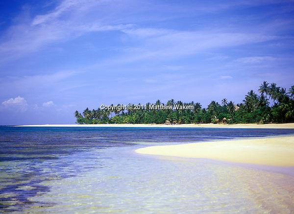 LAS TERRENAS, DOMINICAN REPUBLIC : A view of  Playa Las Terrenas in Las Terrenas. Samana Penisula, Dominican Republic.