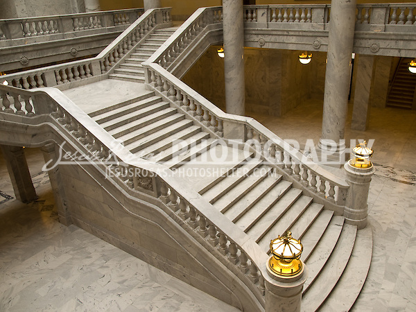 Stairs of the Utah State Capitol building.