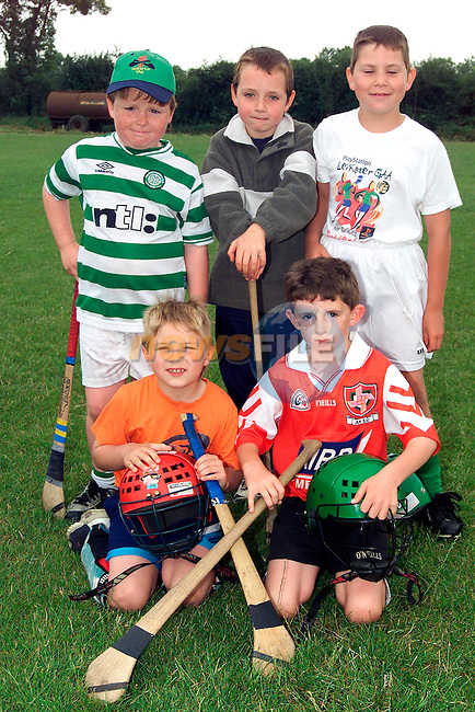 David Stephenson, Termonfeckin, Robert Flynn, Beaulie, Cormac McCabe, Baltray, Emmet Murray, Collon and Ronan Califf, Clogherhead at the Hurling Camp in The Fechins GAA pitch..Picture: Paul Mohan/Newsfile