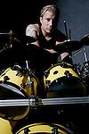 Bill Papenberg drummer for Strength In Numbers..On 7/4/2003.Hot Dog House.Asbury Park, NJ..MARK R. SULLIVAN/markrsullivan.com © 2003