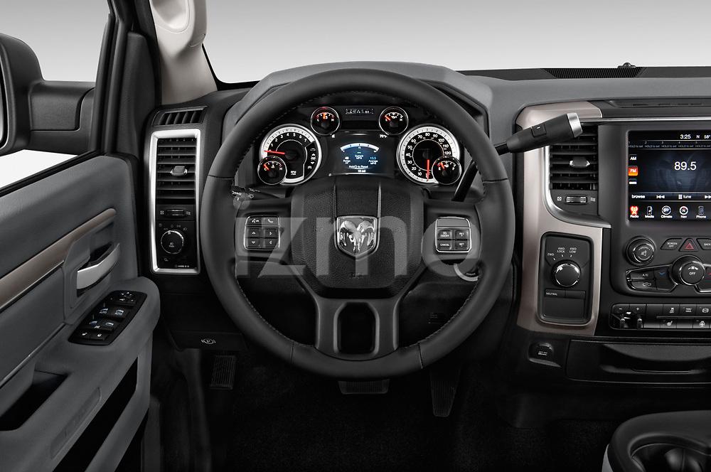 Car pictures of steering wheel view of a 2017 Ram 3500 Big Horn 4 Door Pick Up