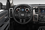 Car pictures of steering wheel view of a 2017 Ram 3500 Big Horn 4 Door Pick Up