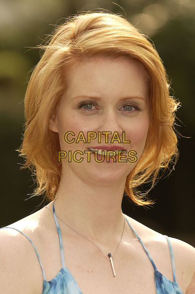 "CYNTHIA NIXON.Star of ""Sex and the City"" .Named ""face of Oral-B 2004"" to promote.Oral-B 3 Step Tooth care System.London 27 April 2004.headhsot, portrait.www.capitalpictures.com.sales@capitalpictures.com.©Capital Pictures"