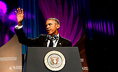 United States President Barack Obama delivers remarks at the Congressional Black Caucus Foundation's 45th Annual Phoenix Awards Gala at the Walter E. Washington Convention Center, September19, 2015 in Washington, DC. <br /> Credit: Aude Guerrucci / Pool via CNP