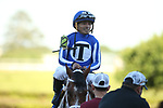 May 2, 2020: Jockey Gabriel Saez after winning aboard By my Standards in the Oaklawn Handicap at Oaklawn Racing Casino Resort in Hot Springs, Arkansas on May 2, 2020. Justin Manning/Eclipse Sportswire/CSM