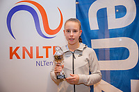 Hilversum, Netherlands, December 3, 2017, Winter Youth Circuit Masters, 12,14,and 16 years, 4 th place girls 14 years  Laurel Polman<br /> Photo: Tennisimages/Henk Koster