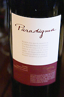 Paradigma, the private wine of Santiago Zemma of Zemma & Ruiz Moreno, The O'Farrell Restaurant, Acassuso, Buenos Aires Argentina, South America
