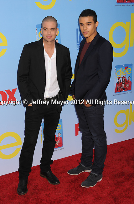 HOLLYWOOD, CA - SEPTEMBER 12: Mark Salling and Jacob Artist arrives at the 'GLEE' Premiere Screening And Reception at Paramount Studios on September 12, 2012 in Hollywood, California.