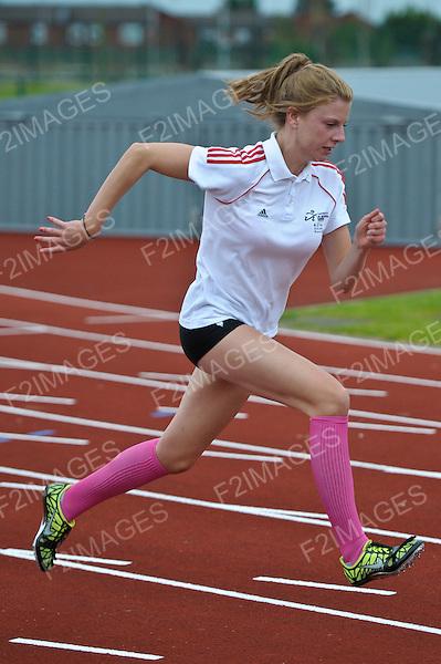 Athletics Training at Litherland Sport Park Sefton Liverpool.