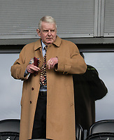 John Motson attends the match at the Sky Bet League 2 match between Barnet and Wycombe Wanderers at The Hive, London, England on 17 April 2017. Photo by Andy Rowland.