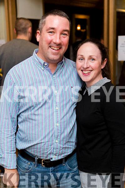 Brendan Moran and Trish Moran at the John Mitchels GAA 'Strictly Come Dancing' at Ballygarry House Hotel on Sunday night.