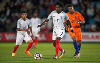 Isaac Buckley-Ricketts (FC Twente (on loan from Manchester City) of England U20 during the International friendly match between England U20 and Netherlands U20 at New Bucks Head, Telford, England on 31 August 2017. Photo by Andy Rowland.