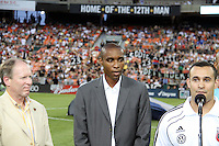 Eddie Pope inducted into the Hall of Tradition of D.C. United during an MLS match against the Los Angeles Galaxy at RFK Stadium on July 18 2010, in Washington D.C. Galaxy won 2-1.