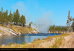 Firehole River, Midway Geyser Basin, Yellowstone National Park, Wyoming