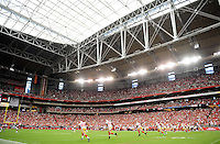 Sept. 13, 2009; Glendale, AZ, USA; Overall view as the San Francisco 49ers kick off the ball to begin the game against the Arizona Cardinals at University of Phoenix Stadium. San Francisco defeated Arizona 20-16. Mandatory Credit: Mark J. Rebilas-