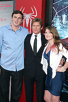 Jack Leary, Denis Leary and Devin Leary at the premiere of Columbia Pictures' 'The Amazing Spider-Man' at the Regency Village Theatre on June 28, 2012 in Westwood, California. &copy; mpi22/MediaPunch Inc. *NORTEPHOTO.COM*<br />