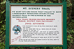 MT. Scenery Sign