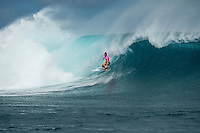 Namotu Island Resort, Namotu, Fiji. (Tuesday May 27, 2014) Tyler Wright (AUS) –  The Fiji Women's Pro, Stop No. 5 of 10 on the 2014  Women's World Championship Tour (WCT) was called on today  at Cloudbreak in a ring 4'-6' south swell.  The South East Trades, which are side offshore at Cloudbreak increased with the growing swell and made conditions difficult by mid afternoon. All of Rounds 1 & 2 were completed with Malia Manual (HAW) registering the day's highest score with powerful forehand surfing. The event has attracted the world's best female surfers to the world-class waves of Cloudbreak and Restaurants for the recommencement of this season's battle for the world surfing crown. Photo: joliphotos.com