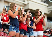 Sandy, Utah - Thursday June 07, 2018: USA supporters during an international friendly match between the women's national teams of the United States (USA) and China PR (CHN) at Rio Tinto Stadium.