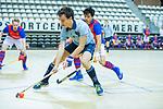 Almere - Zaalhockey  Laren-SCHC (heren)   . Lars Heerink   (Laren)  TopsportCentrum Almere.    COPYRIGHT KOEN SUYK