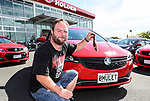 "Daniel McNicholl holds his mullet in front of his new Holden Barina. Holden New Zealand, ""Mullet Amnesty Day"", trade your mullet for a Holden Astra, West City Holden, Auckland, New Zealand, Saturday 1st April 2017. Photo: Simon Watts/www.bwmedia.co.nz"