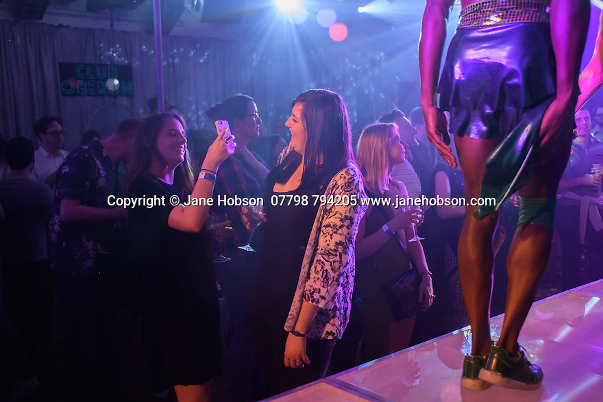London, UK. 10.06.2016. the Donkey Show opens at Proud Camden. Picture shows: Audience members enjoying the show. Photograph © Jane Hobson.