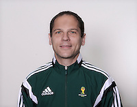 FUSSBALL Fototermin FIFA WM Schiedsrichterassistenten 09.04.2014 Roberto ALONSO FERNANDEZ (Spanien)