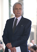 NOV 06 Michael Douglas Honored With Star On The Hollywood Walk Of Fame