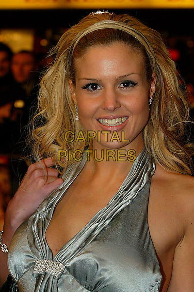 """MICHELLE BASS.At the UK Premiere of """"I Want Candy"""",.Vue Cinema West End, Leicester Square, .London, England, March 20th 2007..portrait headshot grey silver halterneck hairband hair band.CAP/DAR.©Darwin/Capital Pictures"""