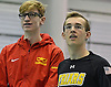 Andrew Stange of St. Anthony's, right, stands alongside Christian Sztoleman of Chaminade after they finished first and second respectively in the 200-yard freetyle event during the CHSAA City Championships at Nassau Aquatic Center on Sunday, Feb. 12, 2017.