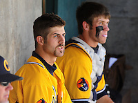 May 31, 2010; Grand Junction, CO, USA; Southern Nevada Coyotes pitcher Bryan Harper (left) alongside brother Bryce Harper against the Faulkner State Sun Chiefs during the Junior College World Series as Suplizio Field. Southern Nevada won the game 18-1. Mandatory Credit: Mark J. Rebilas-