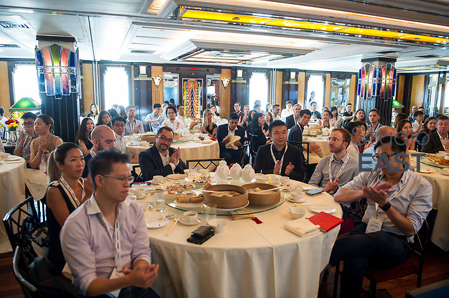 The Trade Desk's welcoming remarks with Jeff Green, CEO & Founder, The Trade Desk, USA, during the The Trade Desk Programmatic Breakfast Briefing on 13July 2017 in the China Club, Hong Kong. Photo by Lucas Schifres