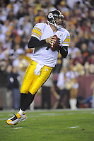 03 November 2008:  Steelers QB Ben Roethlisberger (7) drops back to pass.  The Pittsburgh Steelers defeated the Washington Redskins 23-6 on Monday Night Football at FedEx Field in Landover, MD.