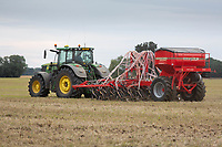 Drilling oilseed rape in Lincolnshire<br /> ©Tim Scrivener Photographer 07850 303986<br />      ....Covering Agriculture In The UK....