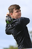 Conor Byrne (Strabane) on the 14th tee during the Final round in the Connacht U16 Boys Open 2018 at the Gort Golf Club, Gort, Galway, Ireland on Wednesday 8th August 2018.<br /> Picture: Thos Caffrey / Golffile<br /> <br /> All photo usage must carry mandatory copyright credit (&copy; Golffile | Thos Caffrey)