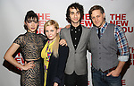 "Isabelle Fuhrman, Abigail Breslin, Alex Wolff and Joe Tippett attend the Opening Night of The New Group World Premiere of ""All The Fine Boys"" at the The Green Fig Urban Eatery on March 1, 2017 in New York City."