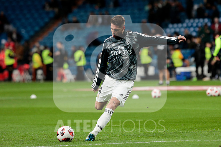 Real Madrid's Sergio Ramos during Copa Del Rey match between Real Madrid and CD Leganes at Santiago Bernabeu Stadium in Madrid, Spain. January 09, 2019. (ALTERPHOTOS/A. Perez Meca)<br />  (ALTERPHOTOS/A. Perez Meca)