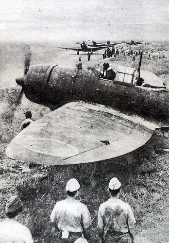 Undated - Tokkotai, or Kamimkaze, were suicide attacks by military aviators from the Empire of Japan against Allied naval vessels in the closing stages of the Pacific campaign of World War II, designed to destroy as many warships as possible.(Photo by Kingendai Photo Library/AFLO)
