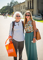 Marissa Feldman '16 and her mother Toni Ehrlich-Feldman from El Cerrito. Homecoming & Family Weekend, Friday and Saturday, Oct. 18-19, 2013. (Photo by Marc Campos, Occidental College Photographer)
